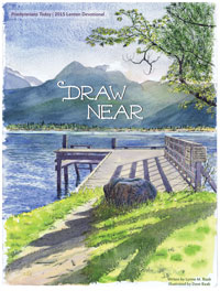 Draw Near: Lenten Devotional by Lynne Baab, illustrated by Dave Baab